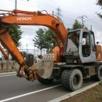 Japan used wheel excavator Hitachi FX125WD-5 for sale